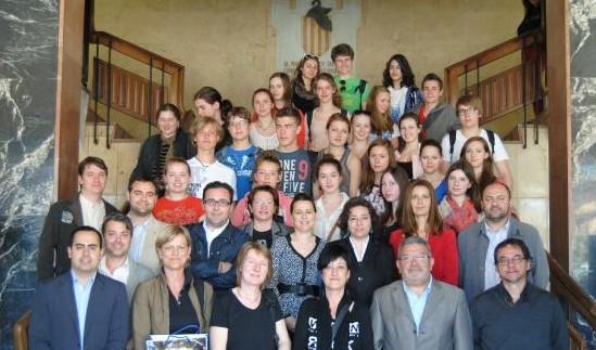 Vila-real recibe a alumnos alemanes de intercambio