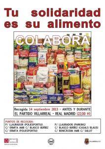 El banco de alimentos recoge  más de 1.100 kilos de alimentos en Vila-real