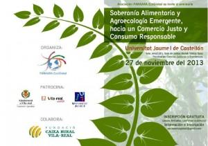 """Seminario """"Soberanía Alimentaria y Agroecología emergente, hacia un Comercio Justo y Consumo Responsable"""""""