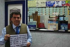 """""""La Bona Sort"""" reparte más de 400.000 euros en la lotería de Navidad"""
