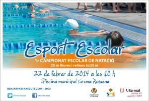 Más de 120 niños y niñas participan el sábado en la piscina Yurema Requema en la jornada de natación del 3r Campionat Multiesport escolar