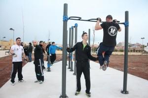 La red de instalaciones deportivas de Vila-real se amplía con la creación del primer 'street workout' en el parque de Alaplana