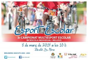 La jornada Biciescola del Campionat Multiesport convoca el sábado a 90 escolares para demostrar sus habilidades sobre la bici