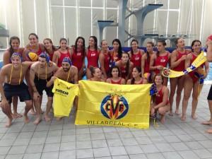 El VillarrealCF practica waterpolo en Shanghái