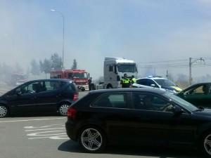 Incendio en la Avenida Francia de Vila-real