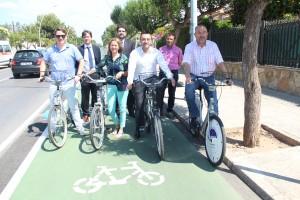Inaugurado el primer carril bici de Vila-real