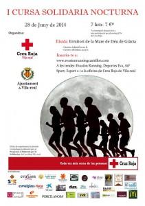 I Carrera Solidaria Nocturna de Cruz Roja en Vila-real