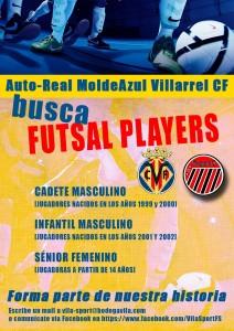 "El Auto-Real MoldeAzul VillarrealCF busca ""Futsal Players"""