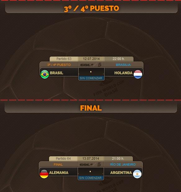 Porra del Mundial: Tercer y Cuarto puesto + FINAL (12 y 13 de Julio)