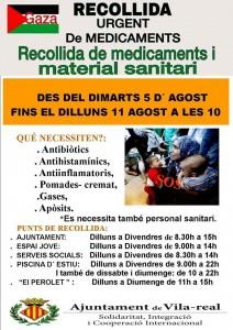 El Ayuntamiento habilita puntos de recogida de medicamentos para colaborar en la campaña de emergencia para Gaza