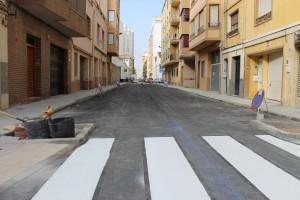 La calle Carlos Sarthou vuelve a abrirse al tráfico tras la completa remodelación realizada por Servicios Públicos