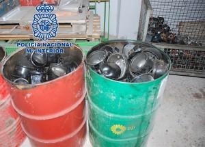 La Policía Nacional detiene en Vila-real a dos personas por receptación y delito contra el medio ambiente