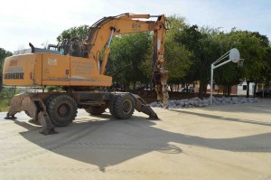 Gómez fija para final de febrero la finalización de las obras del pabellón Melilla