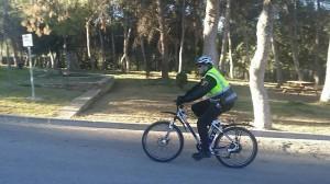 La Policía Local 'ensaya' la incorporación de bicicletas eléctricas