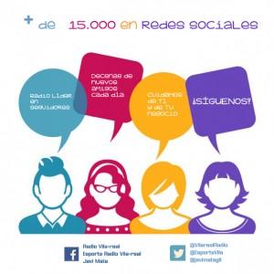 Ya somos más de 15.000 en nuestros perfiles de redes sociales. ¡Síguenos!