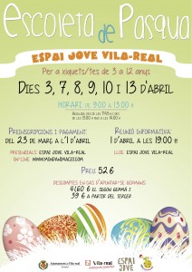 El Espai Jove vuelve a ser estas vacaciones una Escoleta de Pasqua para niños y niñas de Vila-real de 3 a 12 años