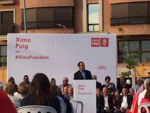 José Bono muestra su apoyo en Vila-real a José Benlloch y Ximo Puig en la candidatura del PSPV