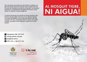 El Ayuntamiento de Vila-real lanza la campaña informativa 'Al mosquito tigre, ni agua' para prevenir la aparición de los insectos