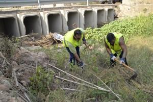 Los trabajadores del Inem-Agrario inician la limpieza de barrancos para minimizar los efectos de la gota fría