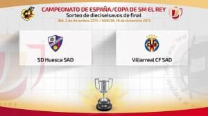 El Villarreal jugará ante la S.D.Huesca en dieciseisavos de la Copa del Rey