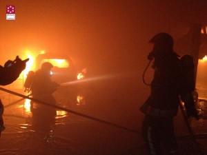 Incendio en un taller de vehículos de Vila-real