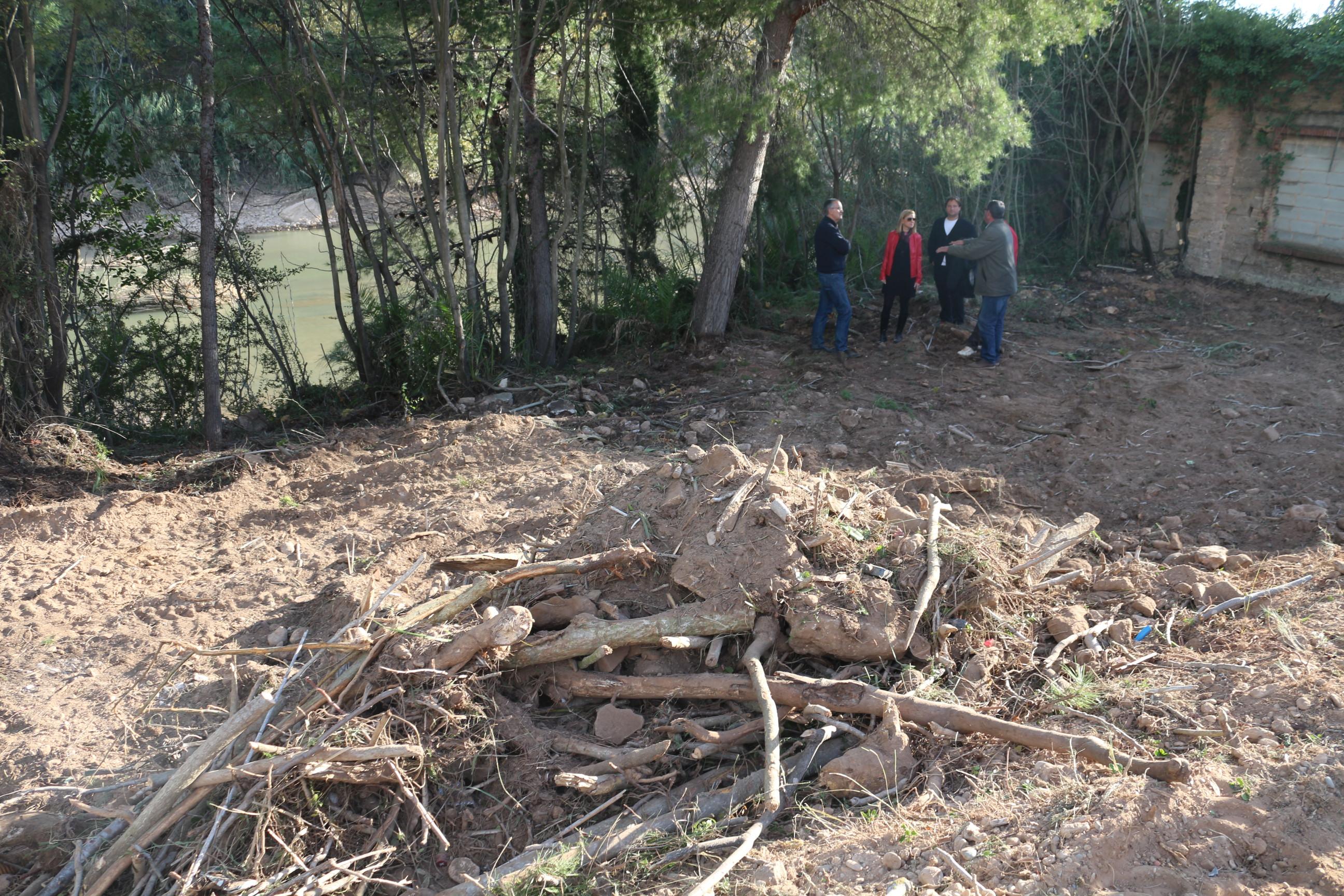 El Consorcio del Paisaje Protegido del Mijares reparará el tramo de senda dañado por la crecida del río cuando baje el caudal