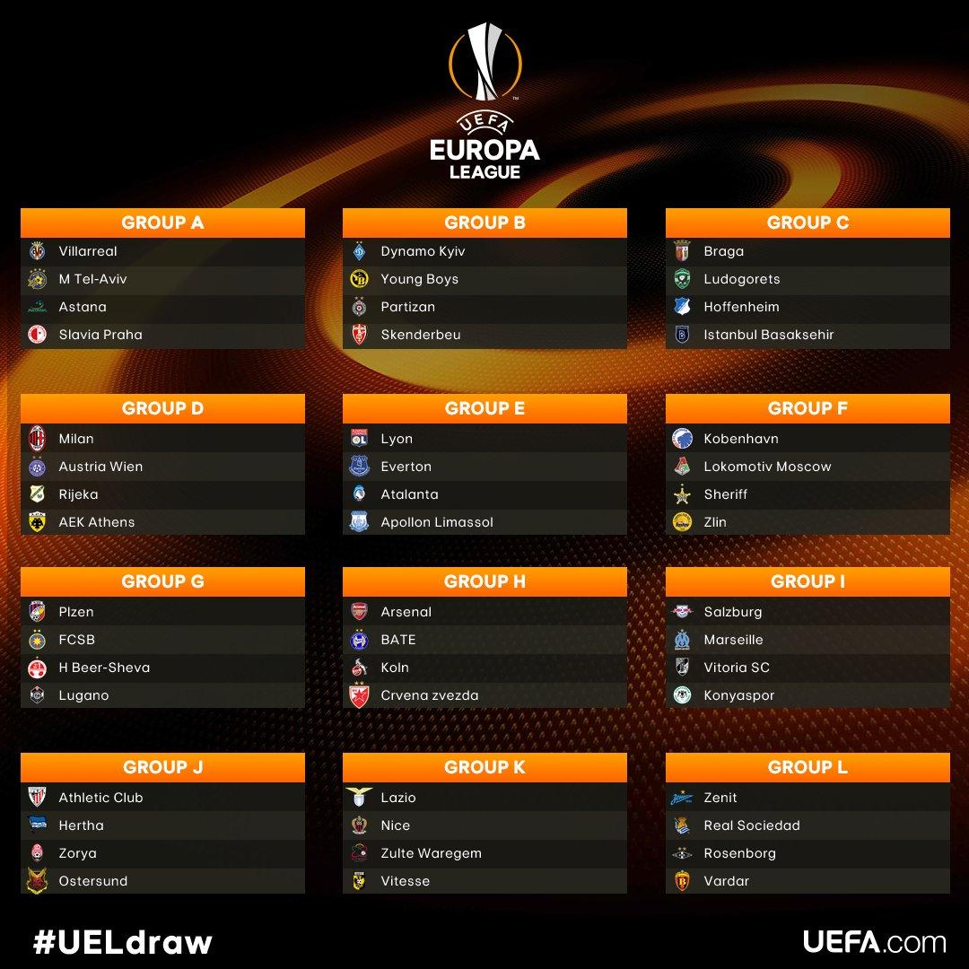 Vuelve a escuchar el Sorteo de la Fase de Grupos de la Europa League