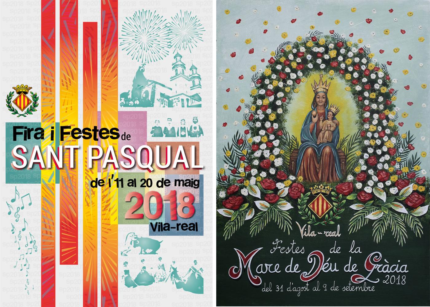 Los carteles de Elisabet Trilles y Sonia Ortiz ilustrarán los programas de fiestas de San Pascual y la Virgen de Gracia.