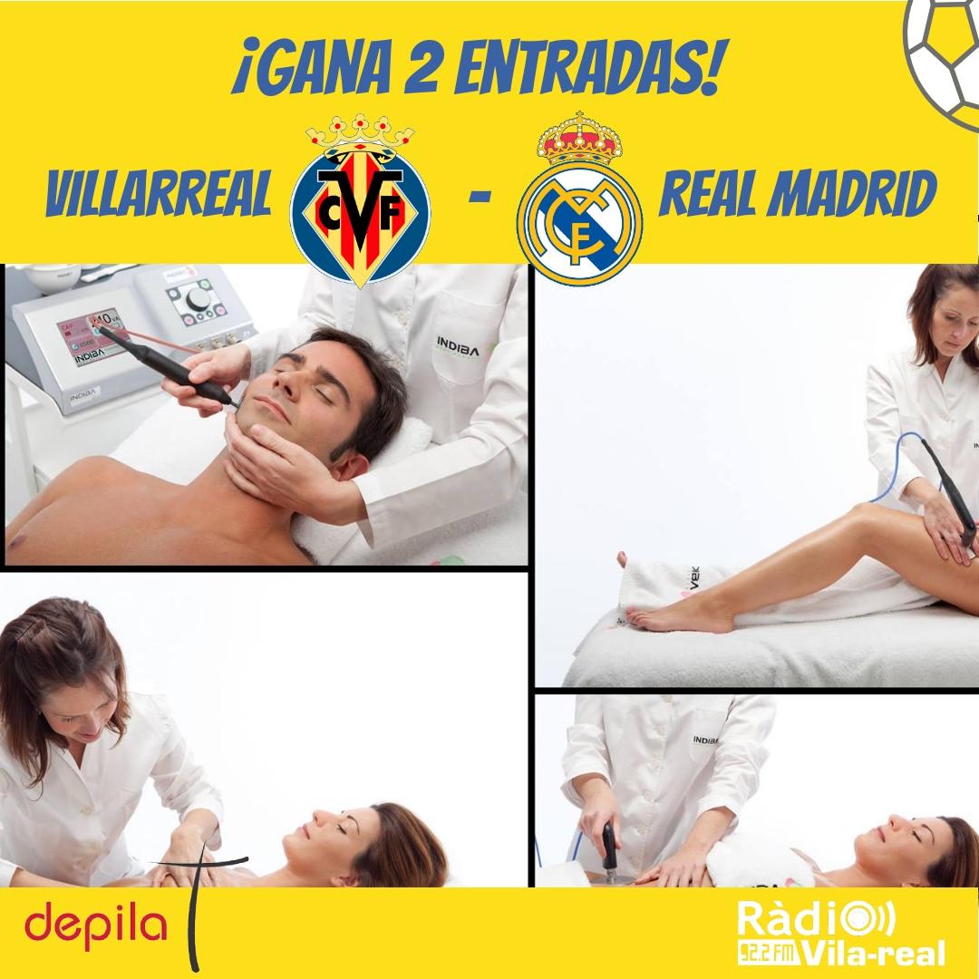 SORTEO VILLARREAL CF: ¡gana 2 entradas para el Villarreal CF – Real Madrid!