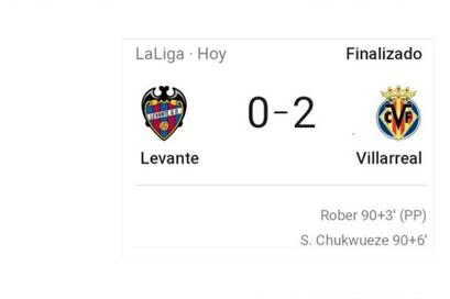 Ya puedes oír los goles del Villarreal C.F. al Levante