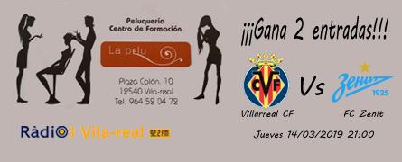 Sorteo entradas para el Villarreal C.F. – Zenit