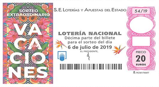 Vila-real vende parte del tercer premio (72038) de la sorteo extraordinario de vacaciones.