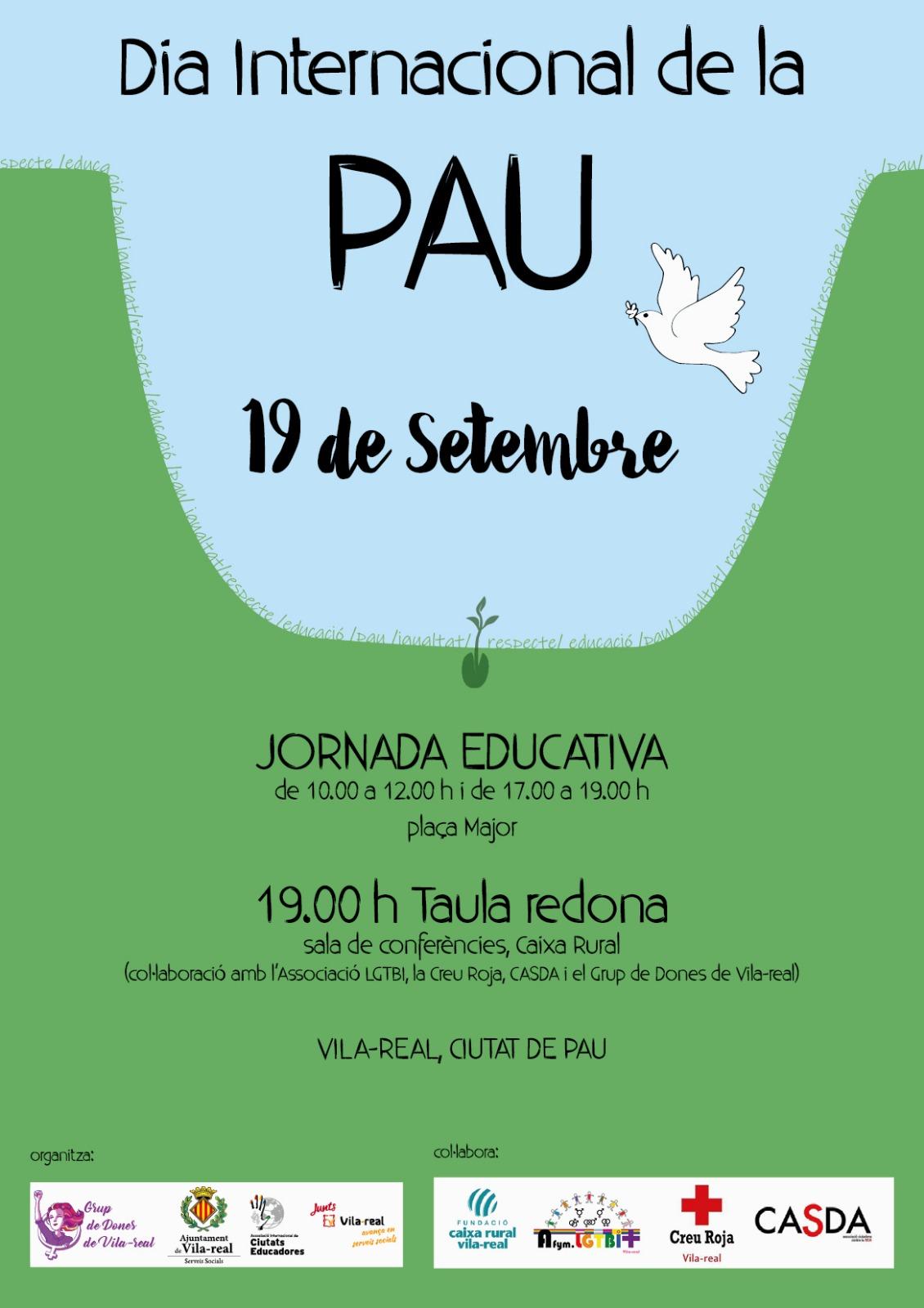Vila-real celebra el Día Internacional de la Paz.