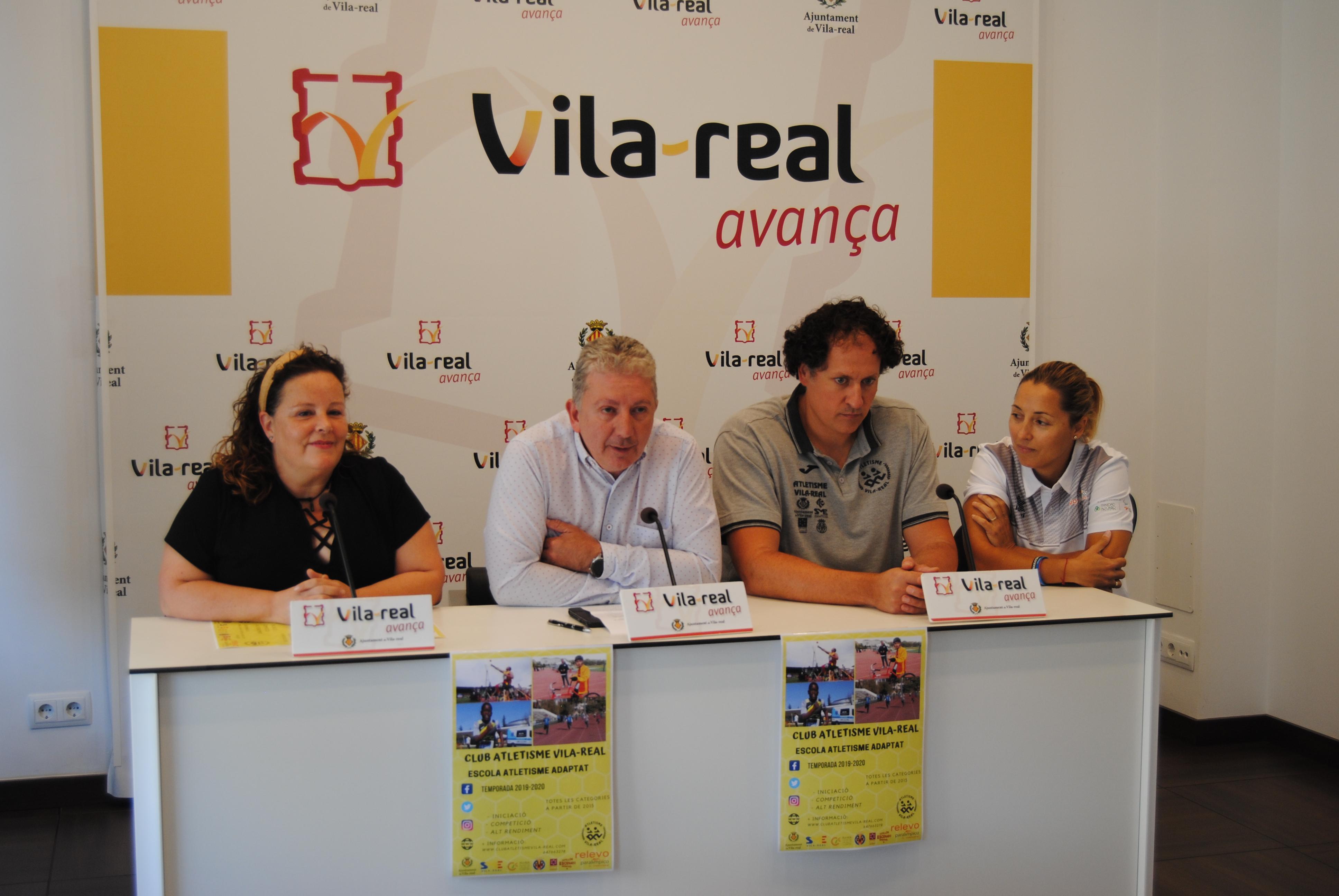 Vila-real impulsa la primera Escuela de Atletismo Adaptado de la provincia.