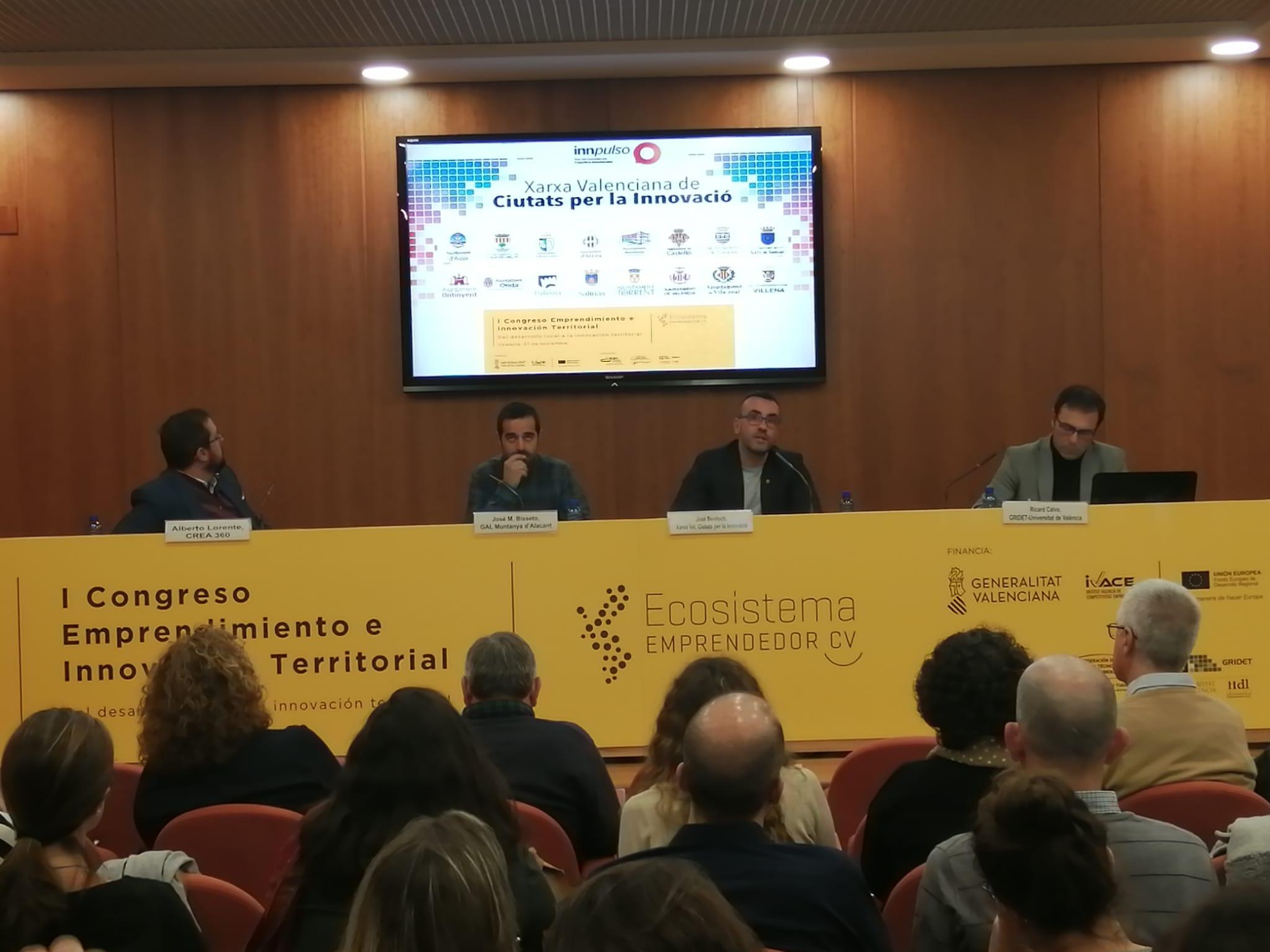 Benlloch defiende el papel de los municipios en el sistema de la innovación.