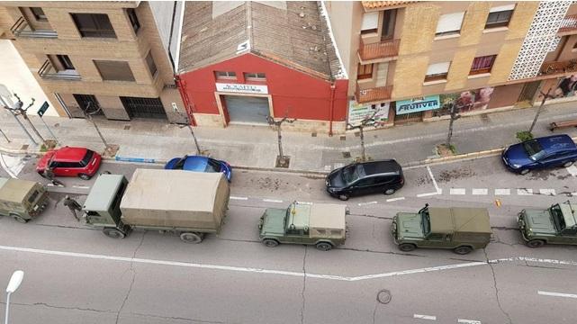 El ejército llega a Vila-real para «la tranquilidad de la gente» informa Benlloch