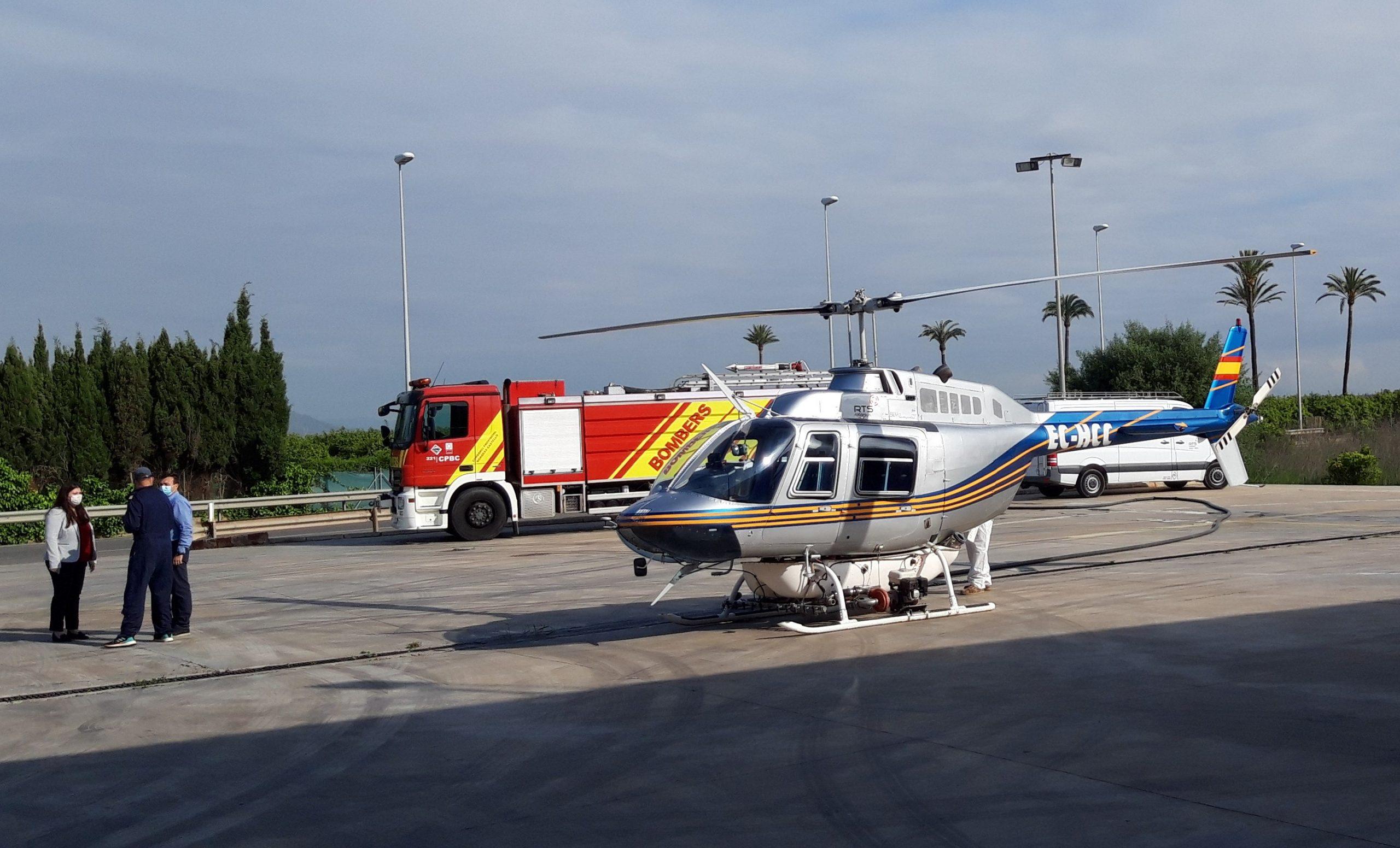La Diputación de Castellón aplica tratamientos aéreos antimosquitos en las zonas de marjal de la provincia