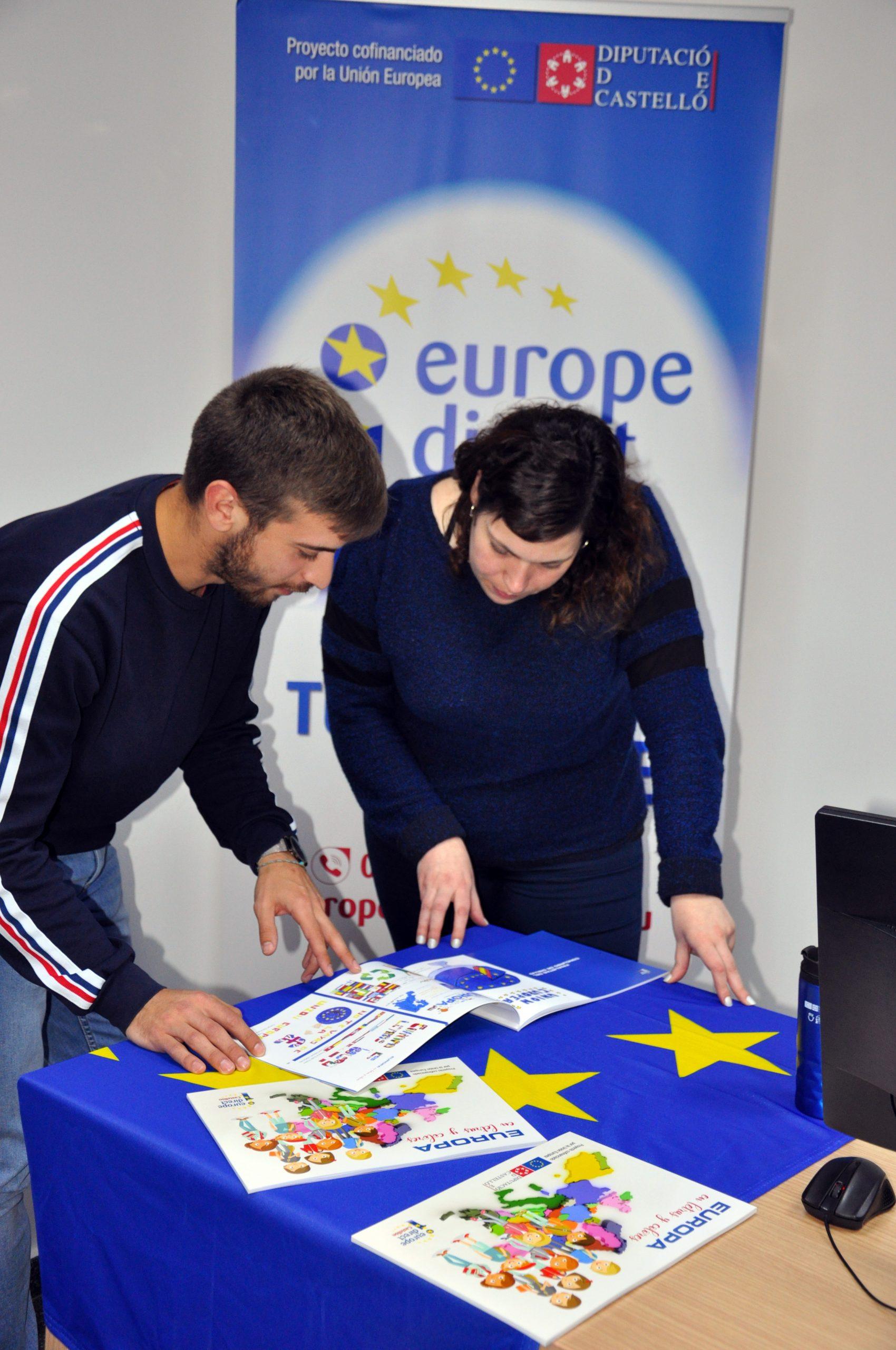 El centro Europe Direct de la Diputació acerca las oportunidades de trabajo de la UE a la juventud de la provincia