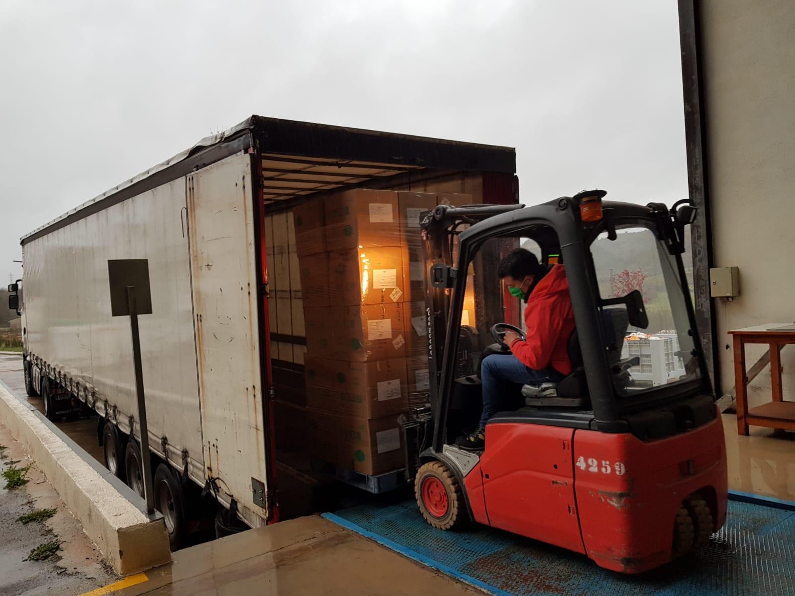 La Diputación de Castellón recibe 28.000 mascarillas procedentes de China