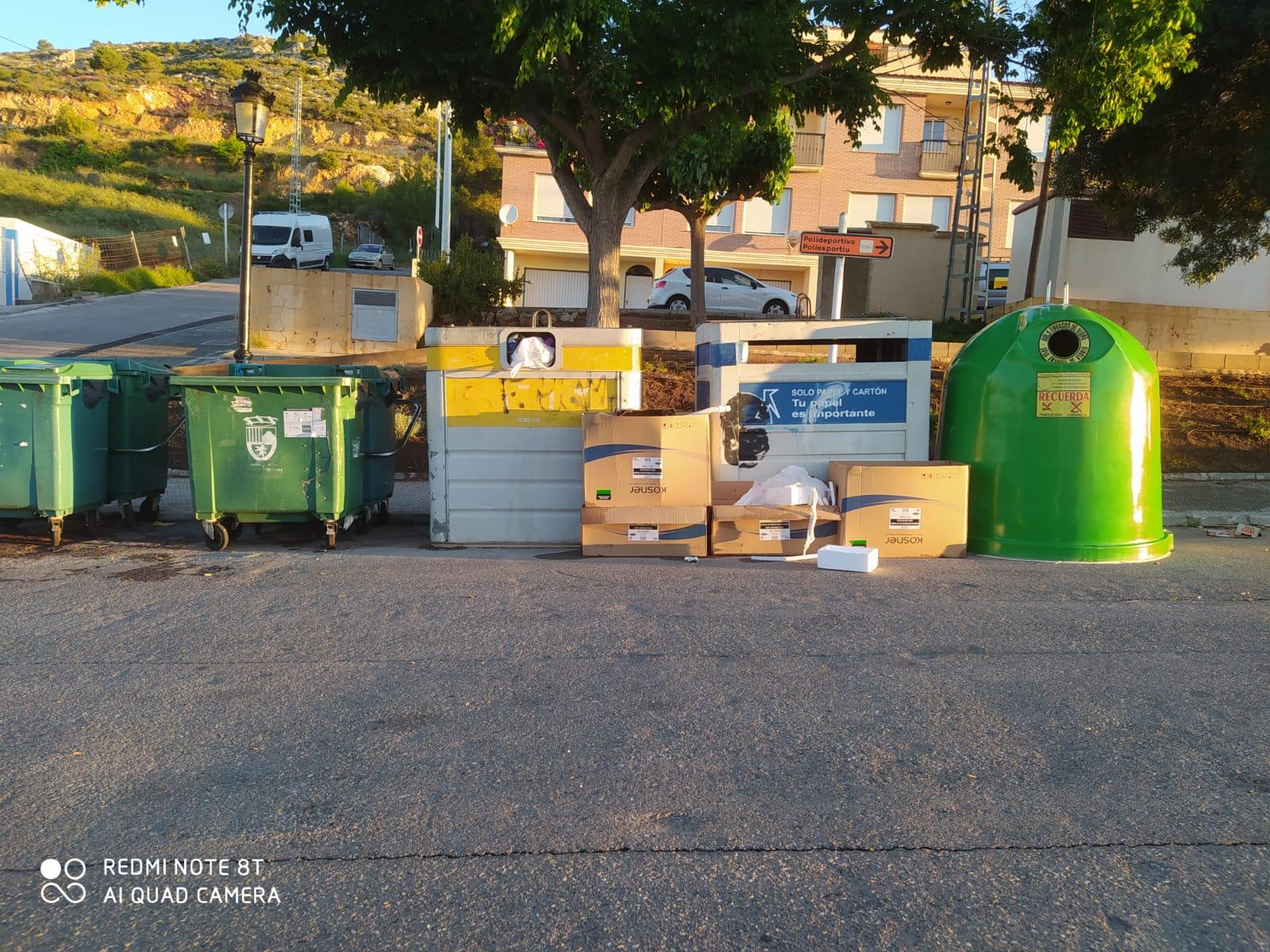 Cs de Borriol pide elaborar un mapa de necesidades para redistribuir la recogida de residuos en la localidad