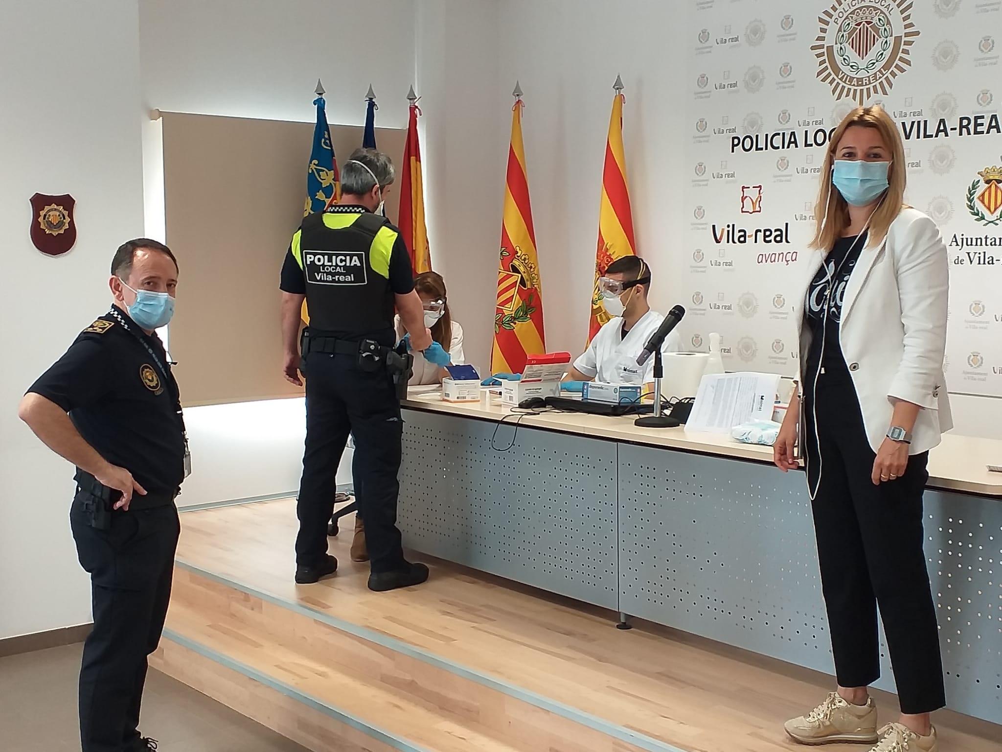 Vila-real, primer municipio de la provincia en realizar test rápidos a la plantilla de Policía Local y Protección Civil
