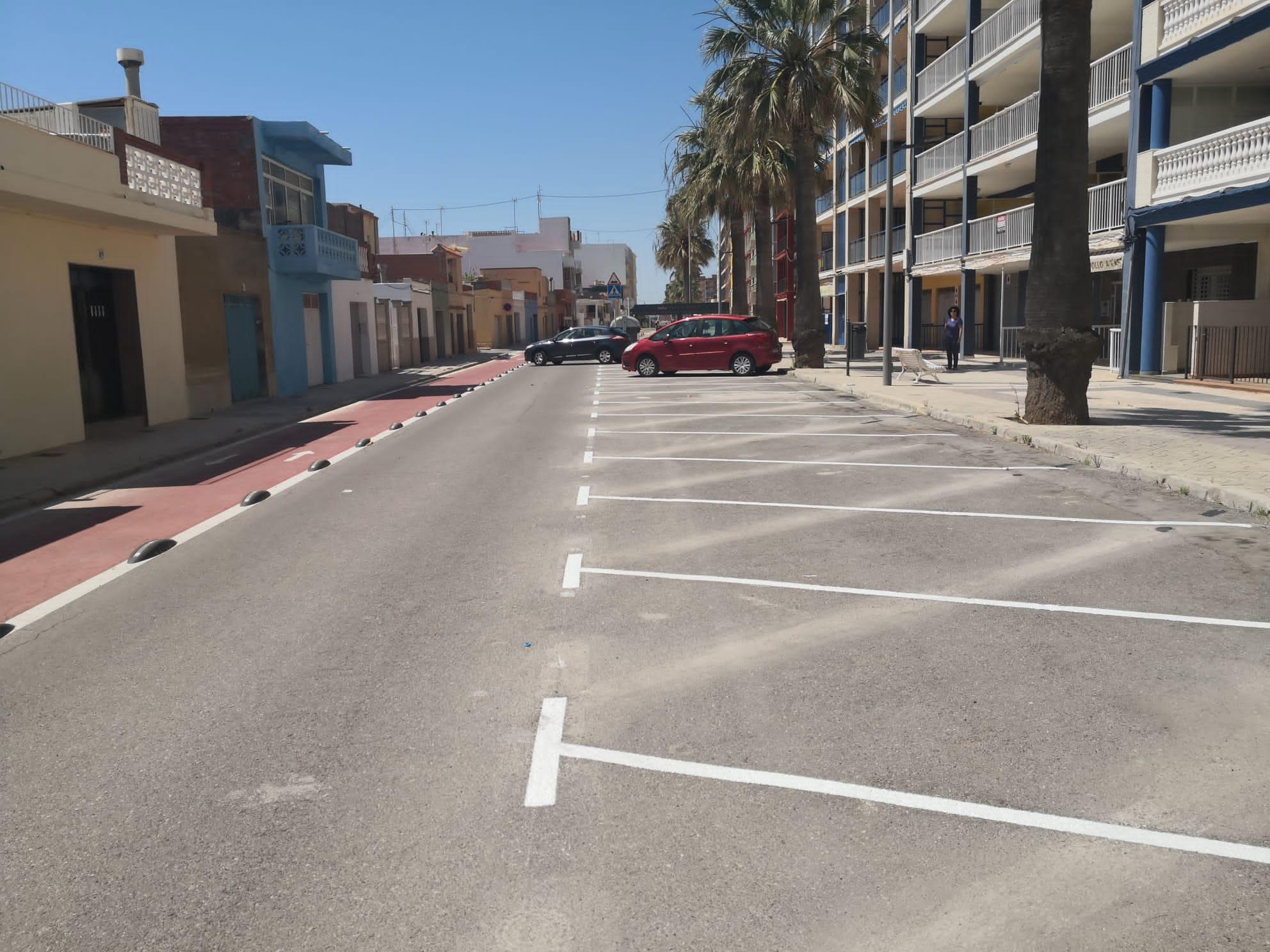 Nules modifica el estacionamiento de la avenida de primera línea de la playa