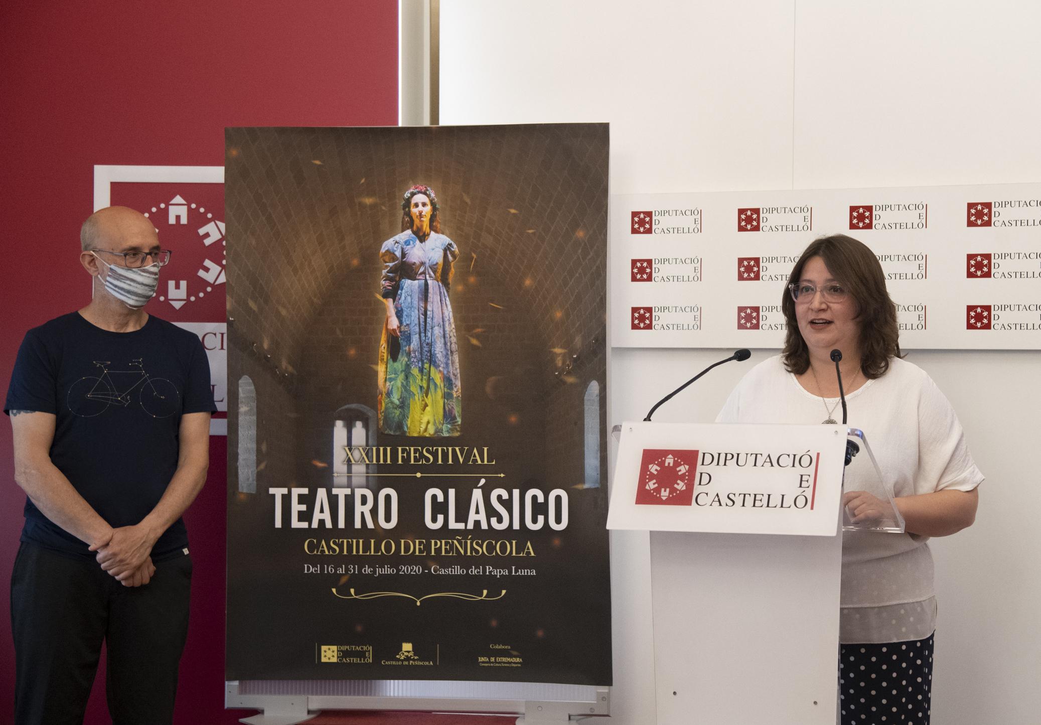 La Diputación presenta el XXIII Festival de Teatro Clásico de Peñíscola con ocho compañías referentes de toda España