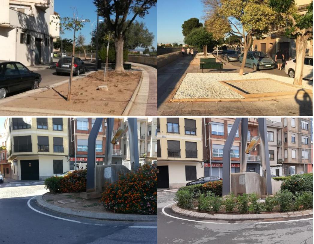 Burriana continúa el plan de mantenimiento, acondicionamiento y mejora de los jardines y parques