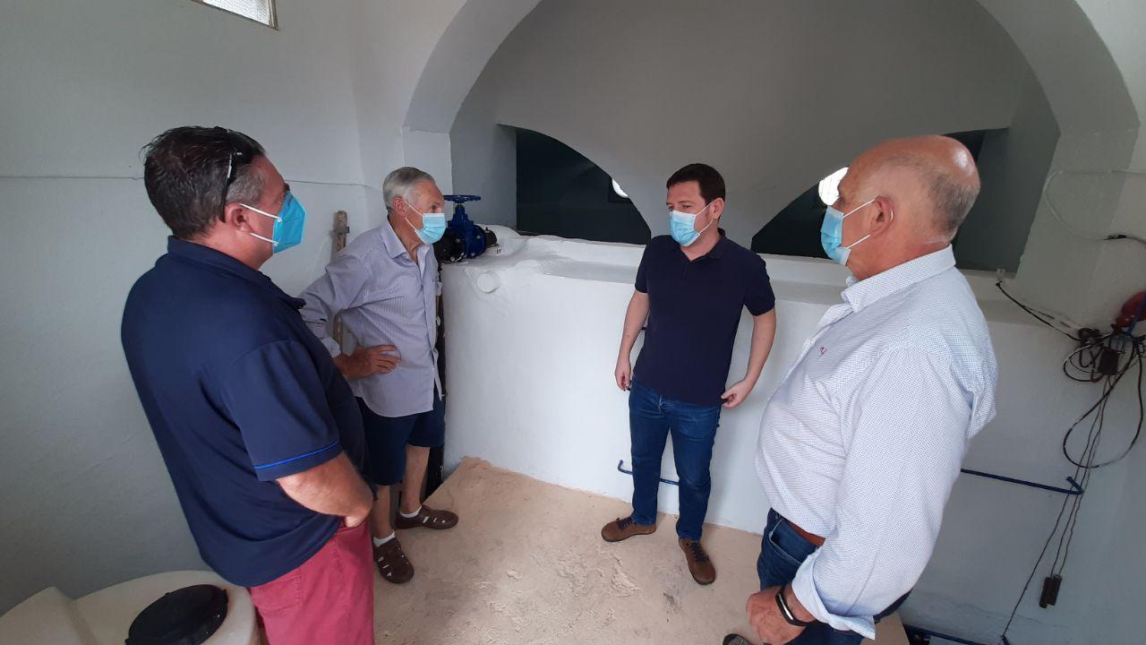 La Diputación repara el depósito de Almedíjar con los fondos de garantía de abastecimiento de agua potable