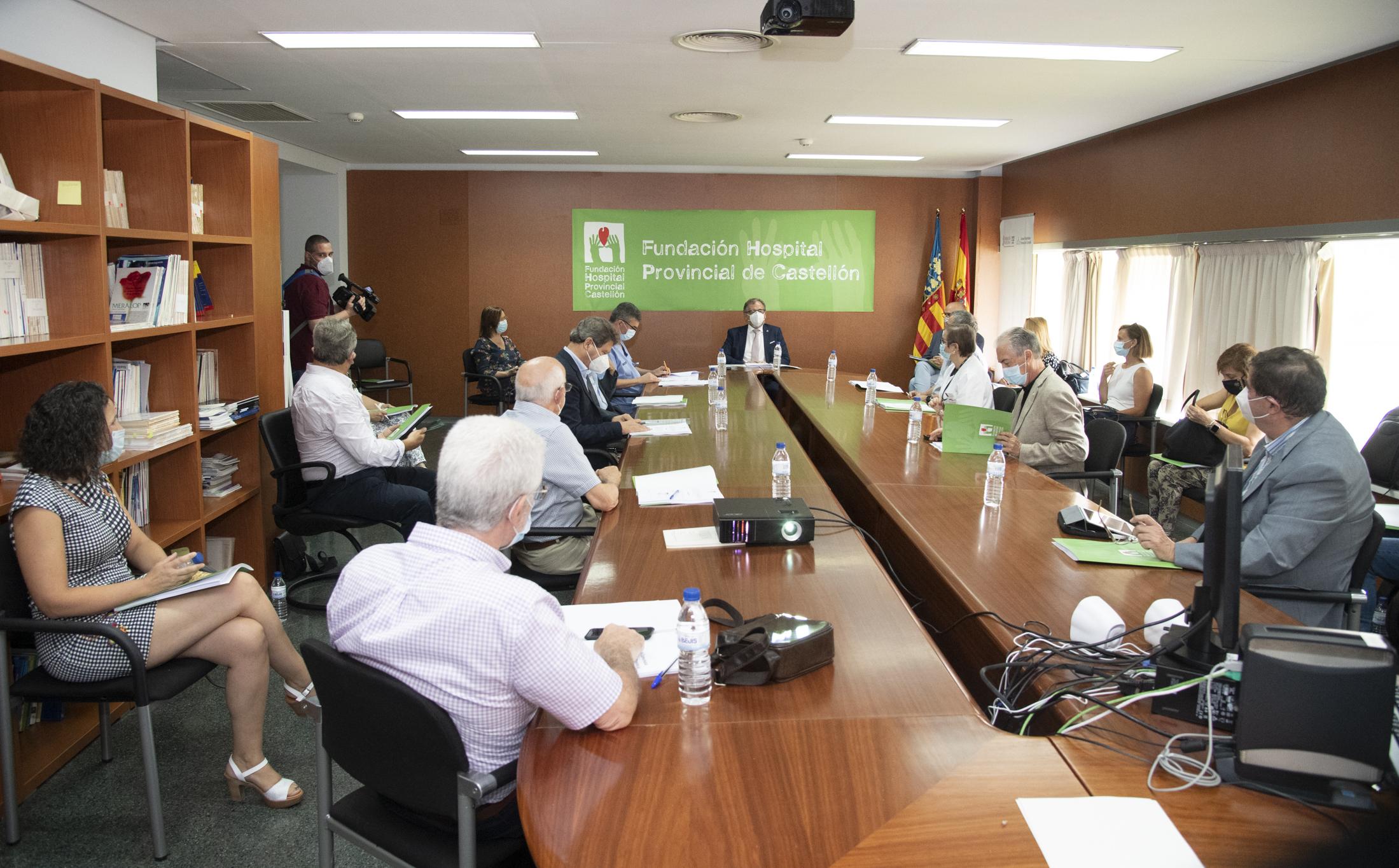Martí avala el Plan Estratégico 2020-2023 de la Fundación Hospital Provincial de Castellón para impulsar un nuevo instituto de investigación