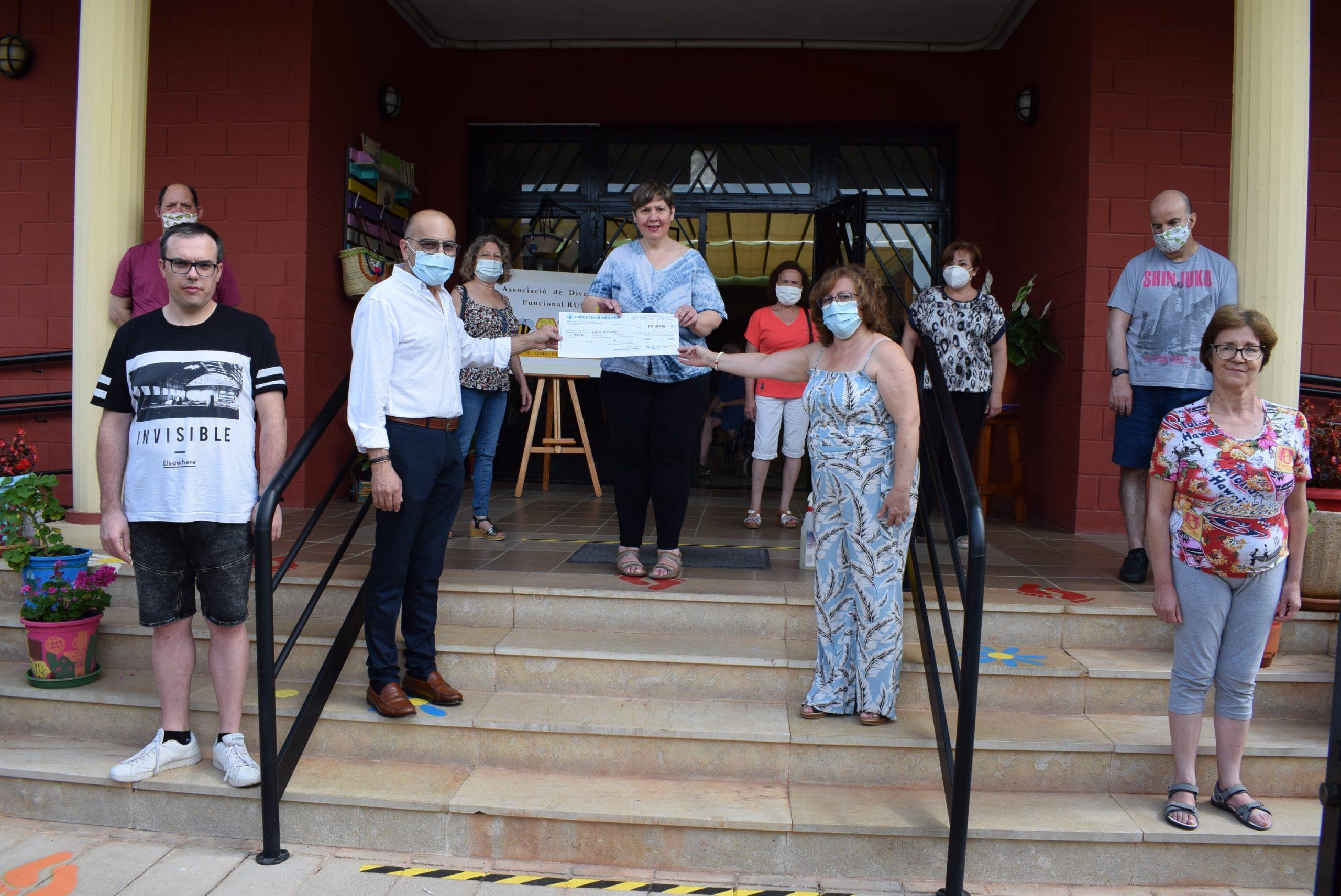 Fundació Caixa Rural Vila-real dona 3.000 euros a la asociación Rusc