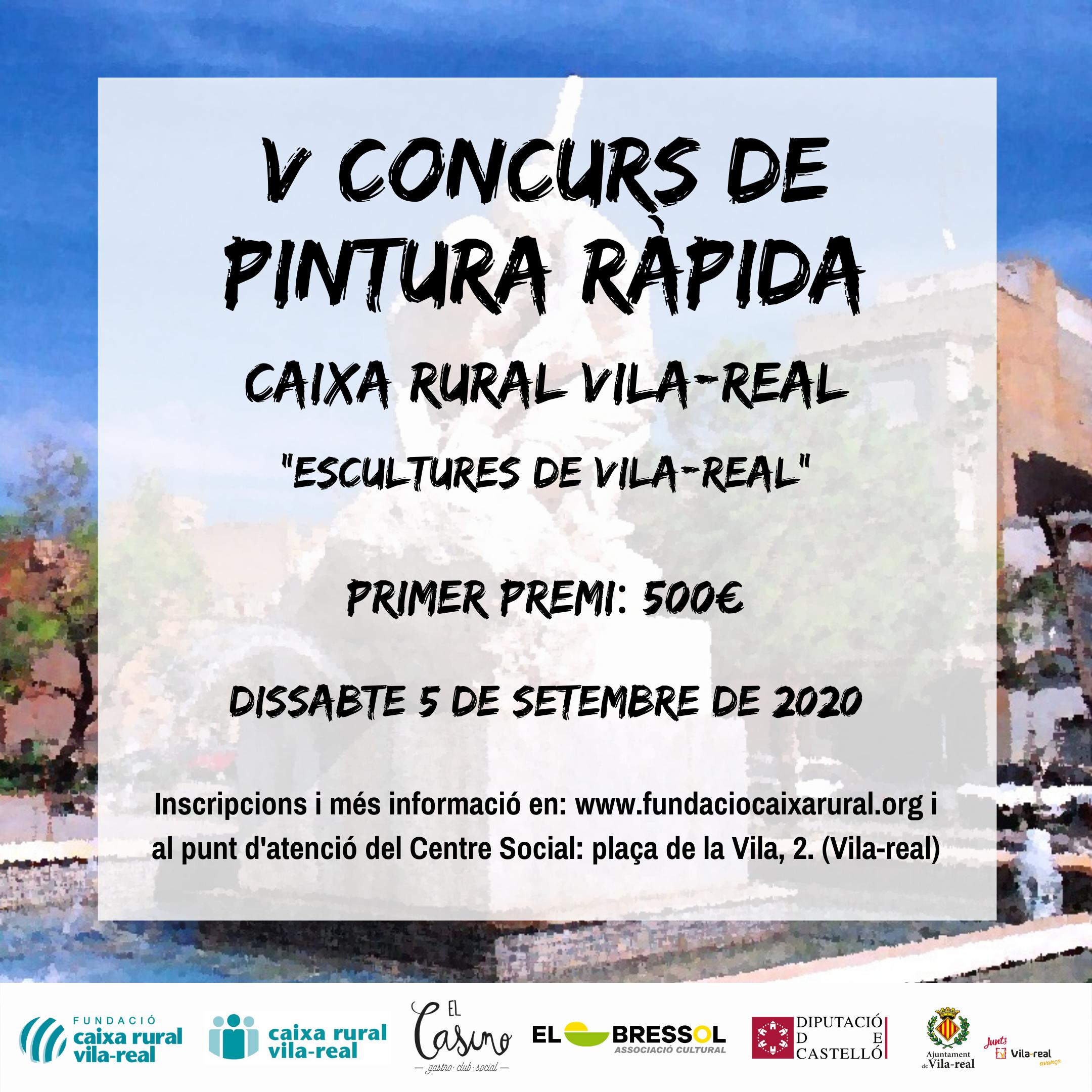 Fundació Caixa Rural Vila-real lanza las inscripciones para la V edición del Concurso de Pintura Rápida