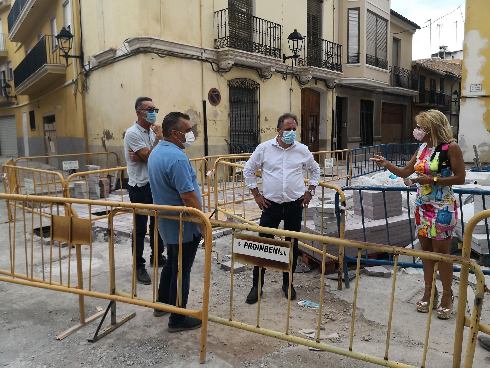 Las obras de la Vila de Almassora encaran la recta final con la remodelación de la plaza de la Iglesia