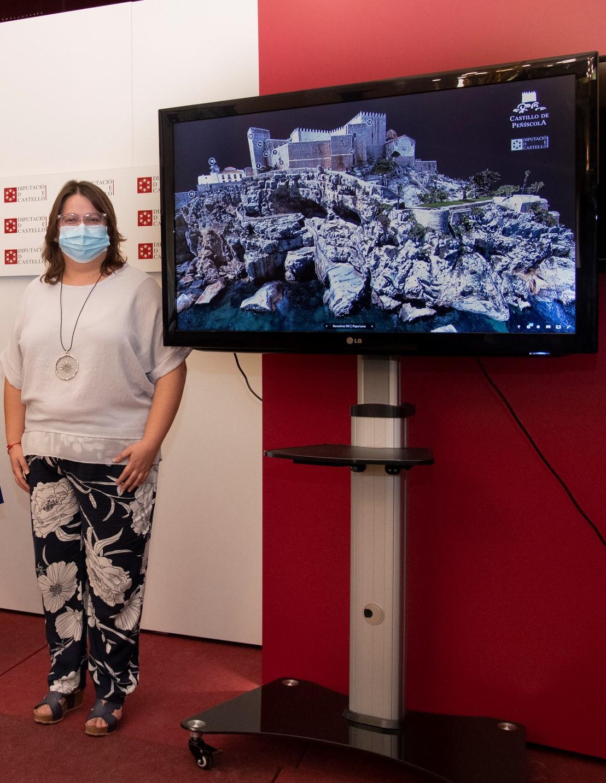 Sanz espera que con la adaptación virtual del Castillo del Papa Luna se incremente de forma sustancial el número de visitas en la postpandemia